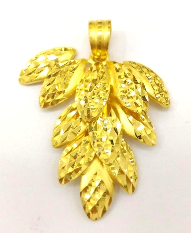 GOP606 黃金墜子(金枝玉葉) 重量約1.5錢