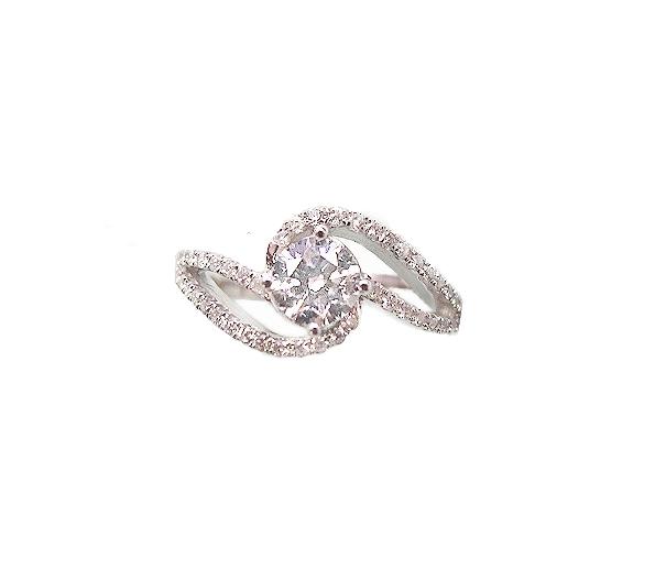 A7736 GIA天然鑽石戒指 主石0.50克拉 八箭八心