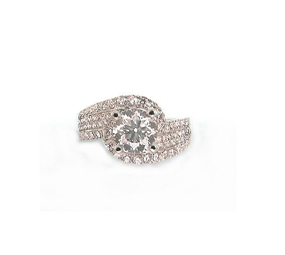 A7741 GIA天然鑽石戒指 主石1.01克拉 八箭八心
