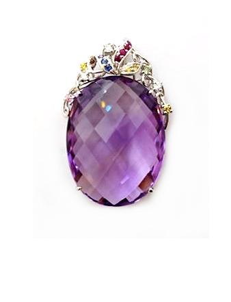 A2413 天然紫水晶墜子
