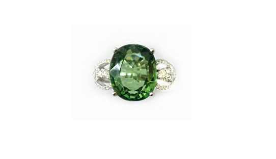 A7777 天然綠碧璽戒指 主石7.56克拉