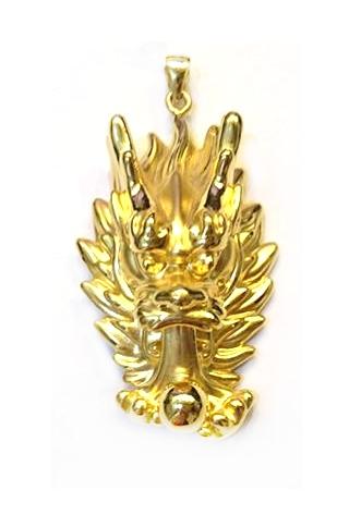 GOP493 黃金墜子(龍頭硬金) 重量約3錢