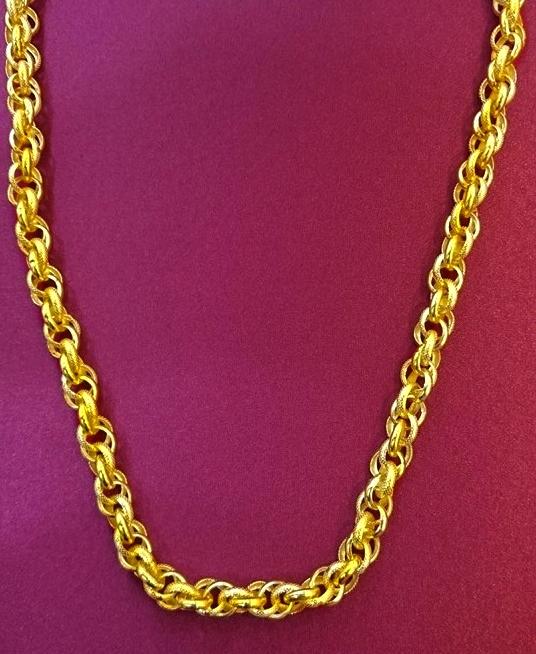 GON734 黃金龍紋項鍊 約1兩6錢