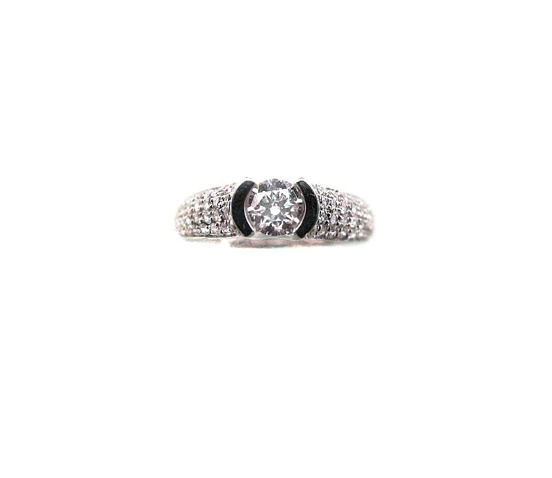 A7675 GIA天然鑽石戒指 主石0.30克拉 八箭八心