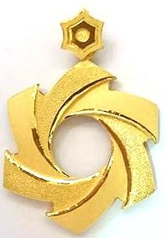 GOP635 黃金墜子(炫風) 重量約3錢