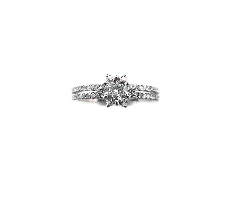 A7678 GIA天然鑽石戒指 主石0.30克拉 八箭八心