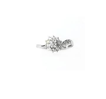 A7782 天然鑽石戒指 主石0.24克拉  八箭八心