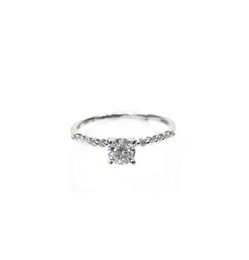 A7785 GIA天然鑽石戒指 主石0.30克拉 八箭八心