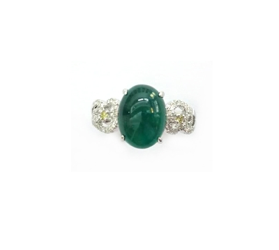 A7773 天然祖母綠戒指 主石3.53克拉