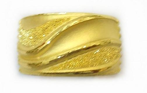 GOR1463 黃金戒指 重量約5.3錢