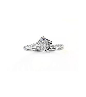A7701 GIA天燃鑽石戒指 主石0.50克拉 八箭八心