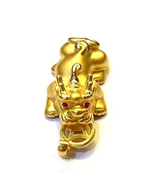 GOP494 黃金墜子(豼貅硬金) 重量約2.9錢