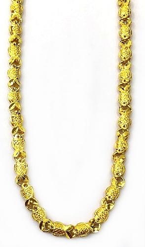 GON770 黃金項鍊(年年有魚) 重量約7.6錢