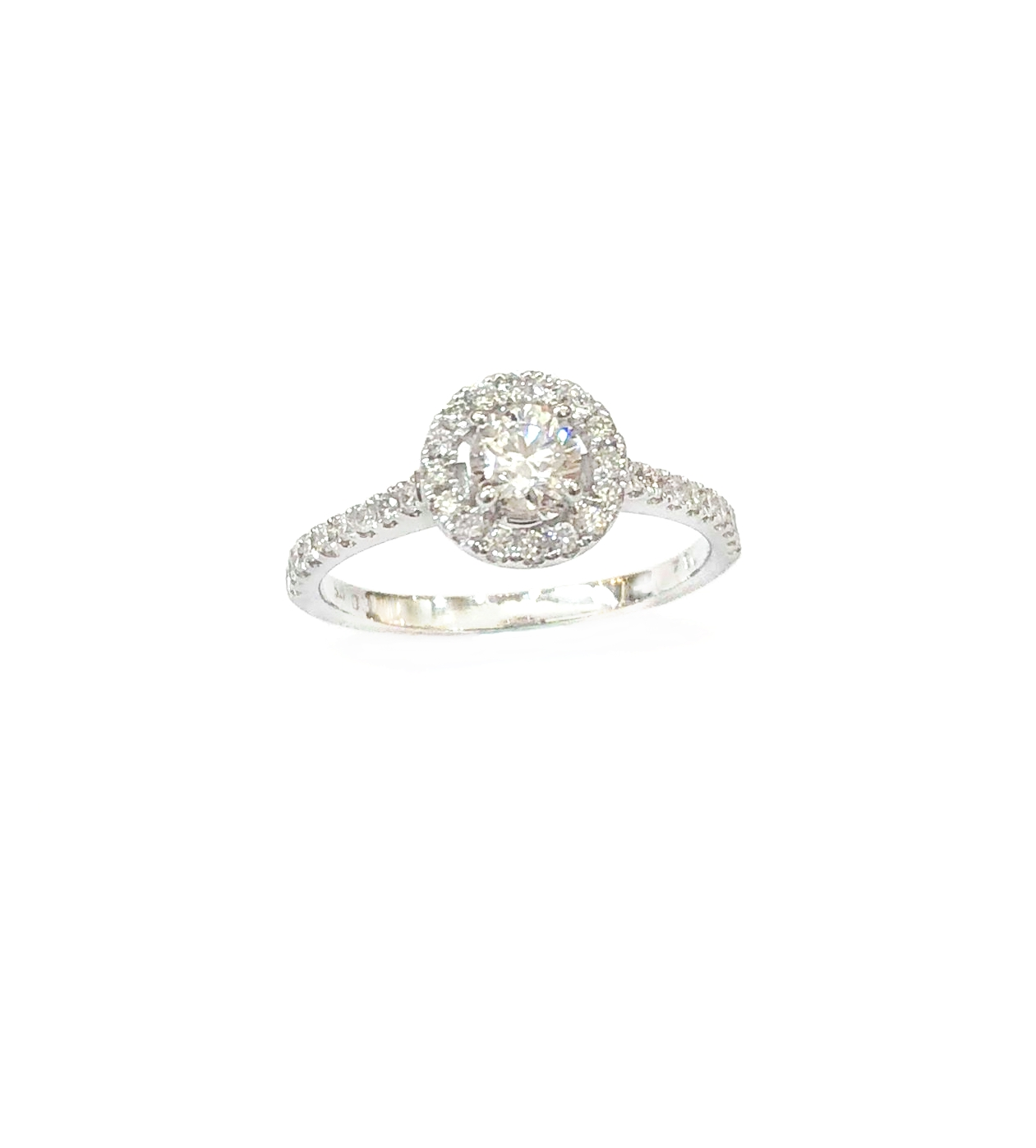 A7791 GIA天然鑽石戒指 主石0.31克拉 八箭八心