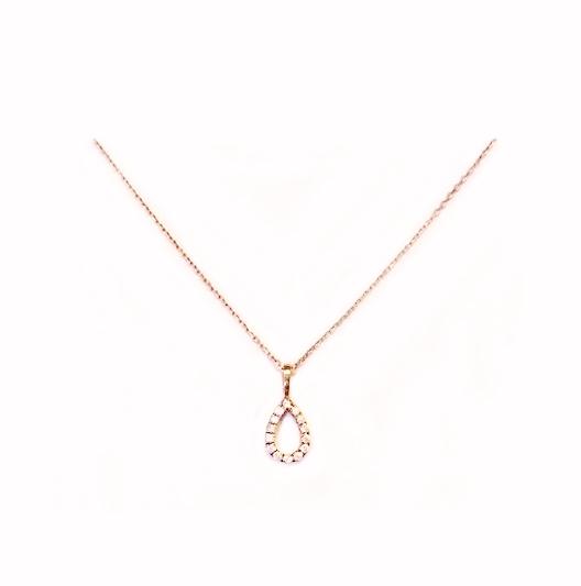 B1493 天然鑽石小套鍊 鑽石14顆 0.09克拉 特價4200