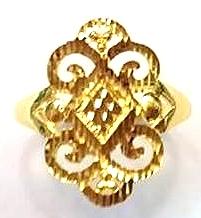 GOR1407 黃金戒指 重量約1錢