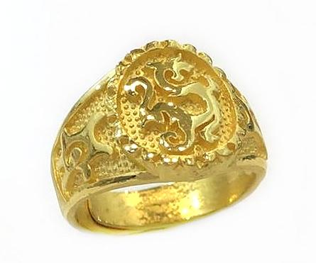 GOR1461 黃金戒指 重量約1錢