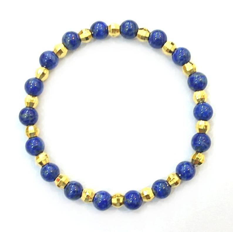 GOB748 黃金青金石手鍊 重量約1錢