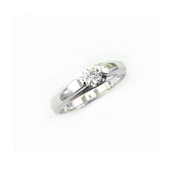 A7389 天然鑽石戒指 主石0.214克拉 八箭八心